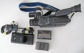 A SONY Hi8 Handycam Video camera recorder, Hifi Stereo, with charger, 2 batteries, cassette and a