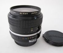 Nikon Nikkor 24mm F/2.8 AIS Manual Focus wide angle Lens.