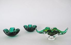 A collection of vintage Murano style bowls