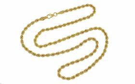Kordelkette 375/- Gelbgold 4,36 g Länge 45,00 cm