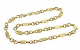 Kette 585/- Gelbgold 124,45 g Länge 73,00 cm Breite 9,80 mm