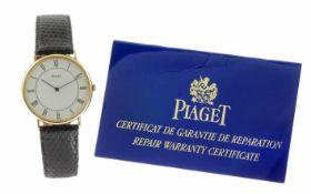 Piaget 750/- Gelbgold Ref. 534032 mit Lederband und Papiere