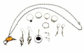 Konvolut Schmuck 800/-, 835/-, 925/- Silber 45,91 g