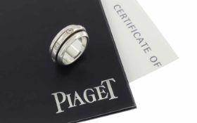 Ring Piaget 750/- Weißgold 14,15 g mit 7 Diamanten zus. ca. 0,21 ct. G/vs Ringgröße 52