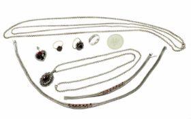 Konvolut Schmuck 800/-, 835/- 925/- Silber 190,44 g