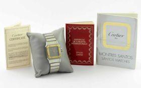 Cartier Santos Ref. 296172018 Automatik 750/-Gelbgold /Edelstahl mit Papiere