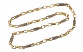 Kette 585/- Gelbgold und Weißgold 26,60 g Länge 65,00 cm