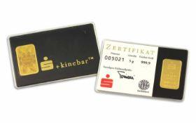 Goldbarren 999,9/- 5,0 g