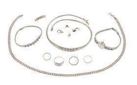 Konvolut Silberschmuck 835/- 925/- zus. 102,39 g