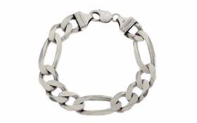 Figaroarmband 925/- Silber 60,70 g Länge 23,00 cm