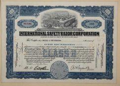 Aktie Internat. Safety Razor Corporation