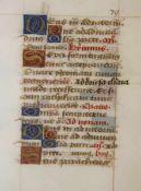 Handschrift aus einem Stundenbuch