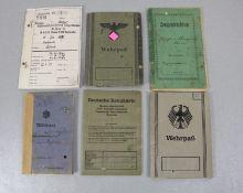 Konvolut Wehrpässe u. Dokumente