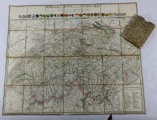 alte Reisekarte Schweiz