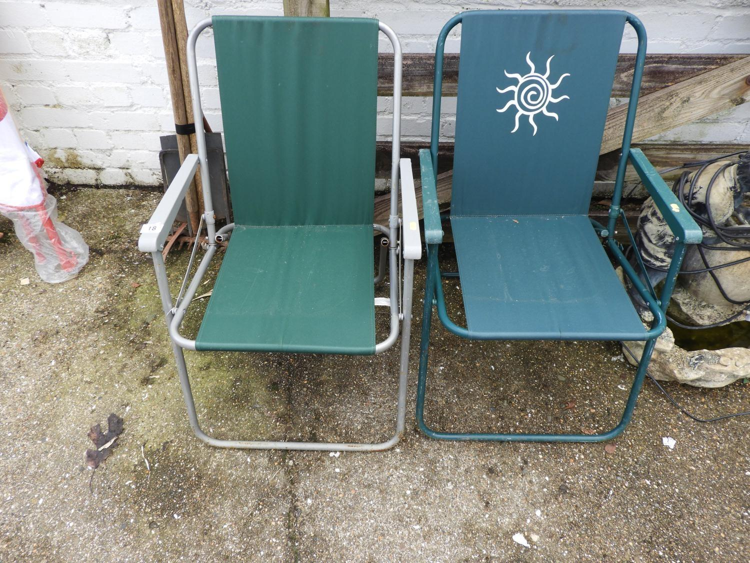 Lot 18 - Pair of Folding Garden Chairs