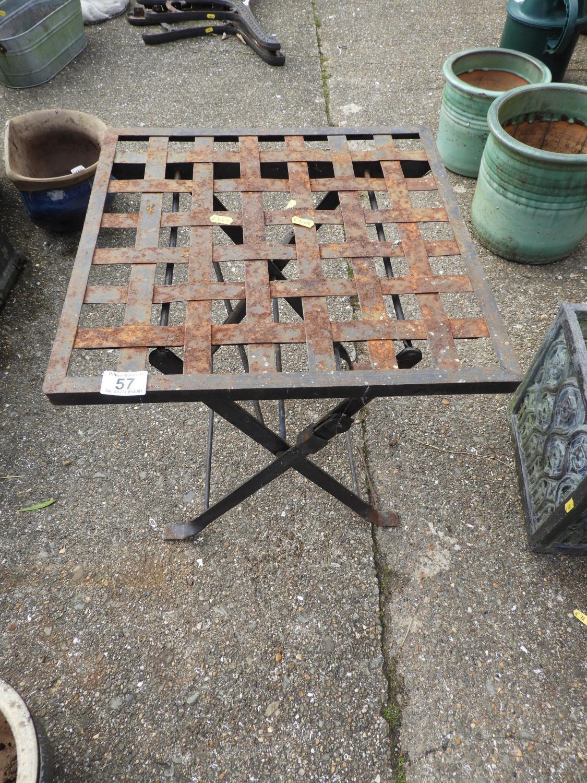 Lot 57 - Folding Metal Garden Table