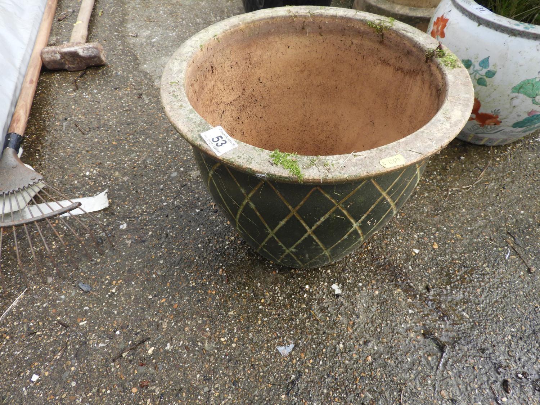 Lot 53 - Glazed Garden Planter