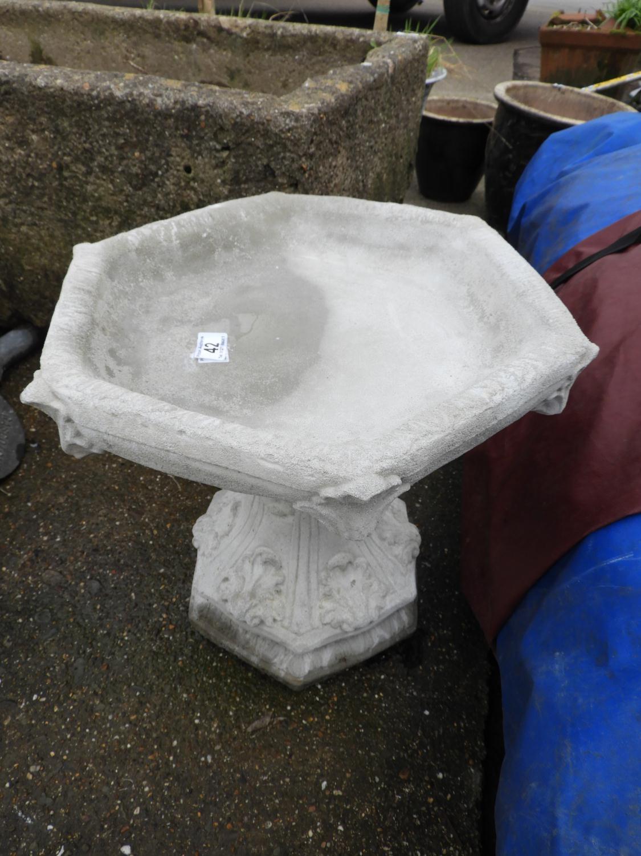 Lot 42 - Concrete Garden Bird Bath