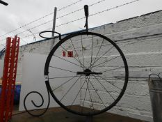 Penny Farthing Style Plant Pot Holder
