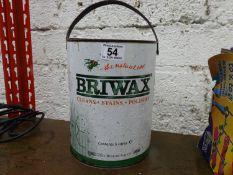Tin of Briwax