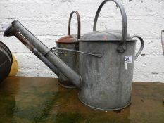 2x Galvanised Watering Cans