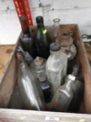 Wooden Crate and Contents - Old Bottles etc