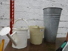 Metal Watering Can Planters