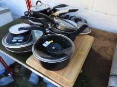Saucepans and Chopping Boards etc