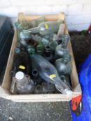 Wooden Crate and Contents - Old Bottles