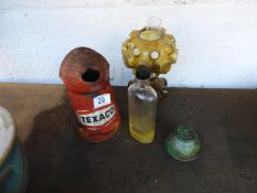 Texaco Oil Can, Lamp etc
