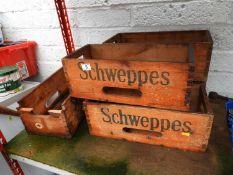 Schweppes Wooden Crates