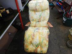 Folding Garden Chair with Cushion