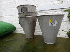 Galvanised Bucket Planters