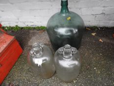 Glass Carboy and 2x Demijohns
