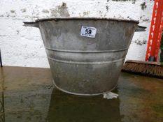 Two Handled Galvanised Bucket