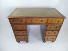 Late Georgian Mahogany Twin Pedestal Seven Drawer Desk with Purchase Receipt