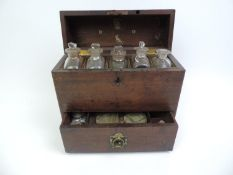 19th Century Mahogany Apothecary Cabinet Fitted with Bottles and Scales
