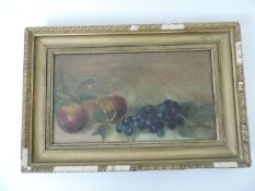Gilt Framed Oil on Canvas - Still Life - Visible Picture 34.5cm x 19.5cm
