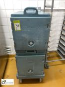 2 Cambro insulated multi-tray Food Boxes, with trolley (located in Main Kitchen, Basement) ****