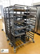 3 tubular framed 24-tray mobile Racks, with quantity trays (located in Main Kitchen,