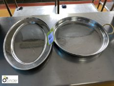 2 various Serving Trays (located in Main Kitchen, Basement) **** please note this lot needs to be