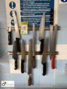 10 various Carving Knives including magnetic wall brackets (located in Main Kitchen,