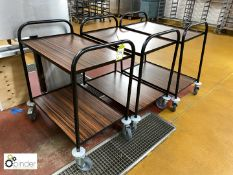 3 tubular framed 2-tier Trolleys (located in Main Kitchen, Basement) **** please note this lot needs