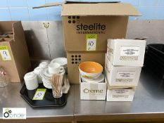 Quantity Steelite Coffee Cups and Saucers (located in Main Kitchen, Basement) **** please note