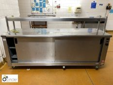 Victor stainless steel Heated Servery, 2300mm x 700mm, with heated gantry, 415volts (located in Main