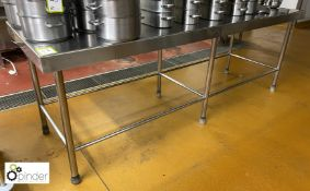 Stainless steel Preparation Table, 2450mm x 800mm (located in Main Kitchen, Basement) **** please