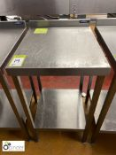 Moffat stainless steel side Preparation Table, 500mm x 600mm (located in Main Kitchen,