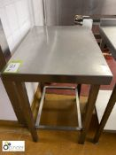 Stainless steel Preparation Table, 750mm x 530mm (located in Main Kitchen, Basement) **** please