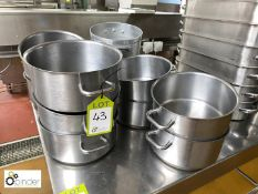 11 Pans (located in Main Kitchen, Basement) **** please note this lot needs to be collected either