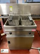Valentine stainless steel twin basket Deep Fat Fryer, 415volts (located in Main Kitchen,